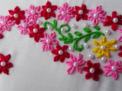 Hand Embroidery: Embroidery for Beginners.Lazy Daisy stitch