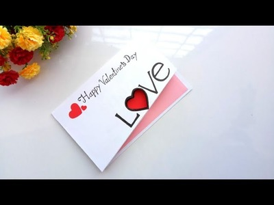 Handmade card for Valentines day card idea  | tutorial