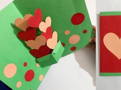 Handmade Valentines Card | Pop Up Card | Valentine Gift Ideas