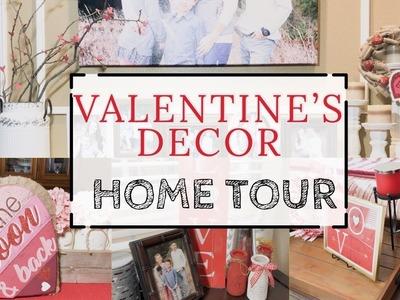 HOME DECOR TOUR | VALENTINE'S DAY | EASY VALENTINE'S DIY | DOLLAR TREE CRAFTS