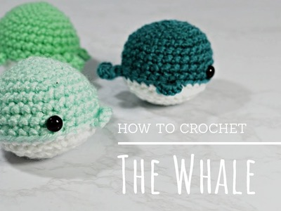 How To Crochet - Easy Beginners Amigurumi Whale Tutorial