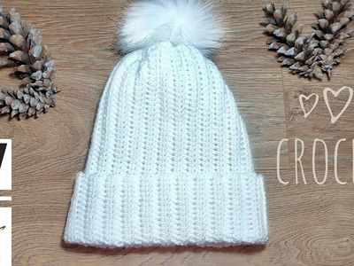 How to Crochet Most POPULAR Hat Tutorial   Crochet for beginners