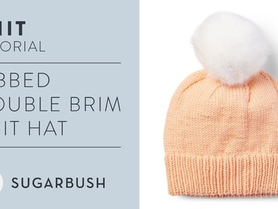 How To Knit A Ribbed Double Brim Hat | Easy Knitting Pattern