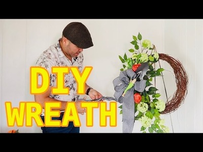 How To Make A Gorgeous Spring Flower Wreath  Using Dollar Tree Gardening Tools