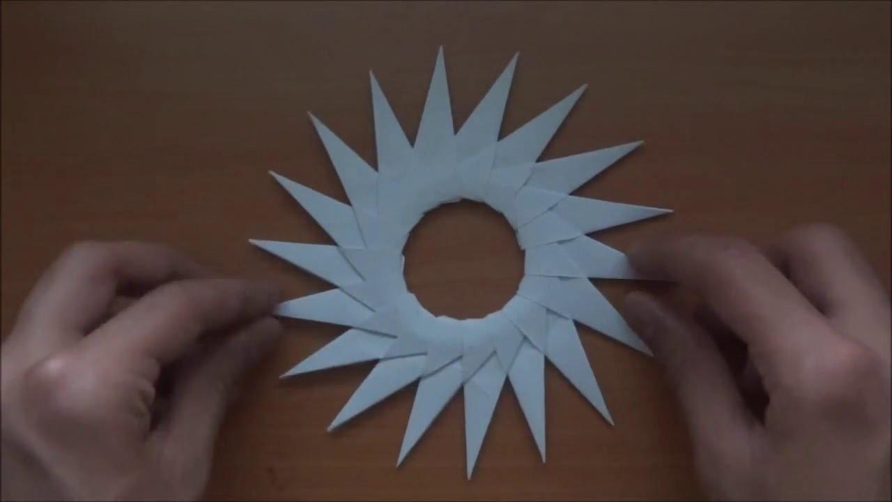 Origami Sun tutorial (Neige A) - YouTube   720x1280
