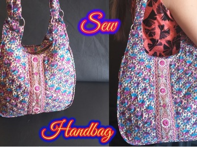 How To Make Branded Looking Handbag With Cloth || Handbag Cutting And Stitching - HINDI