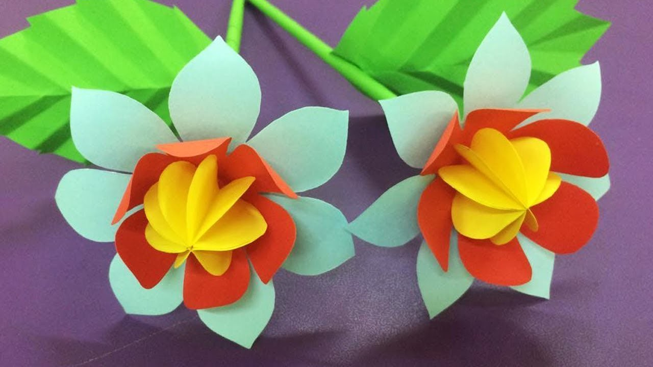 How to Make Flowers with Paper - Making Beautiful Paper Flower - DIY Paper Crafts