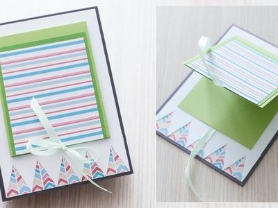 How to make : Lovely Double Greeting Card | Podwójna Kartka Okolicznościowa - Mishellka #334 DIY