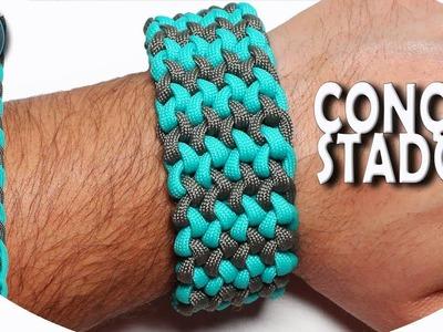 How to make Paracord bracelet Conquistador 2 colors World of Paracord Tutorial DIY
