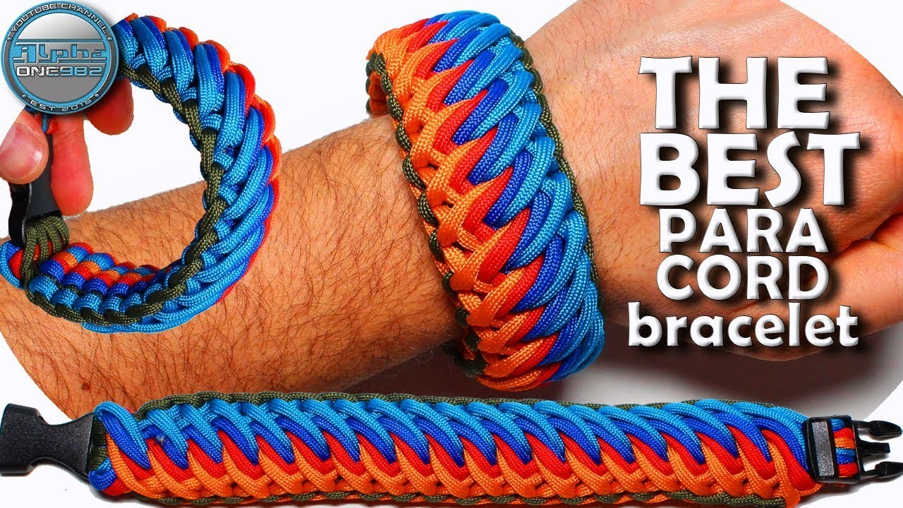 How to make The Best Paracord bracelet EVER Tao Tao Falls Thick and Wide Bracelet 40 ft or 13 mt of