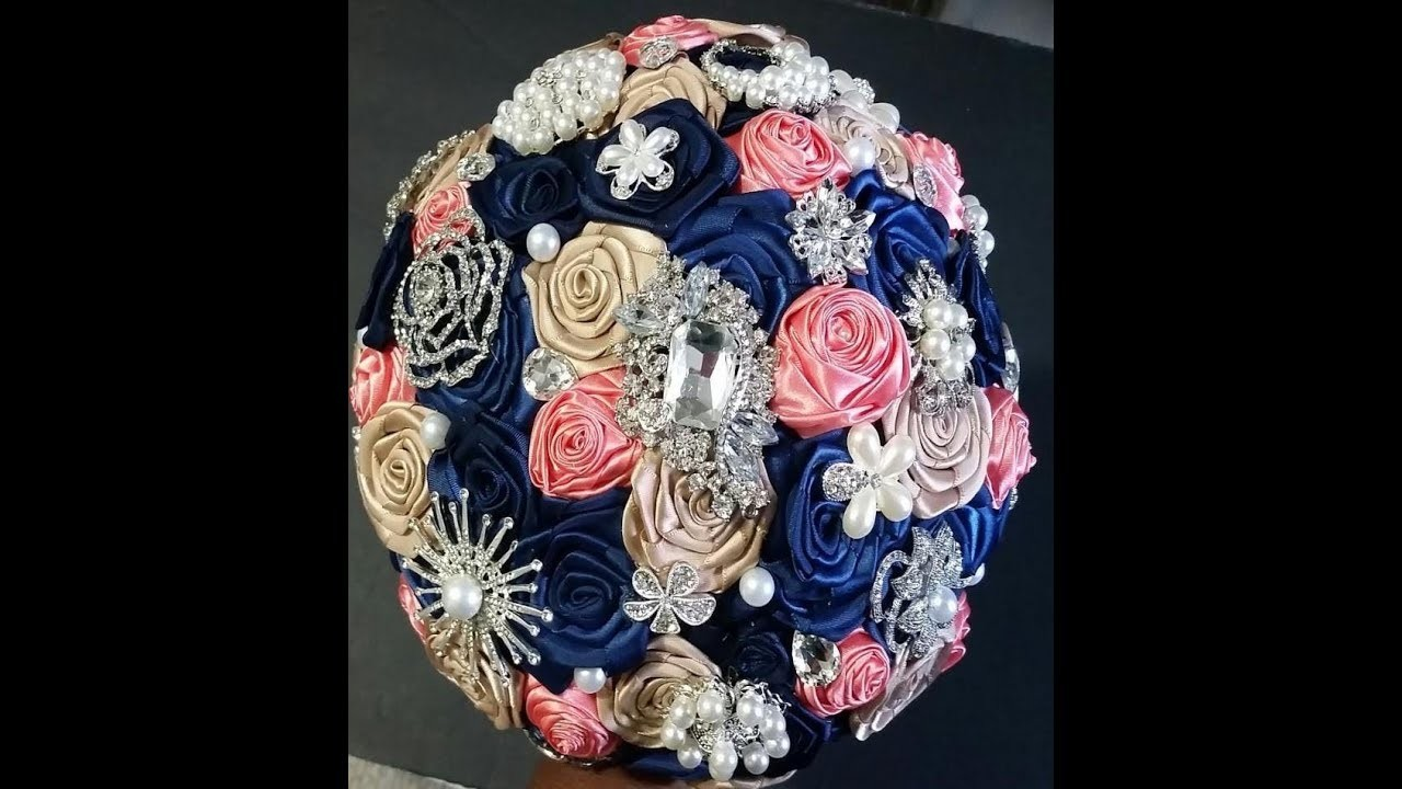 How to make your own Bridal Brooch Bouquet l DIY Kit Teresa l Easy No Wires