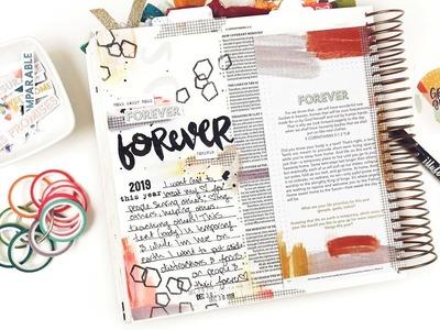 Illustrated Faith Grace & Gratitude Kit 3 I FOREVER I Brush lettering & acrylics