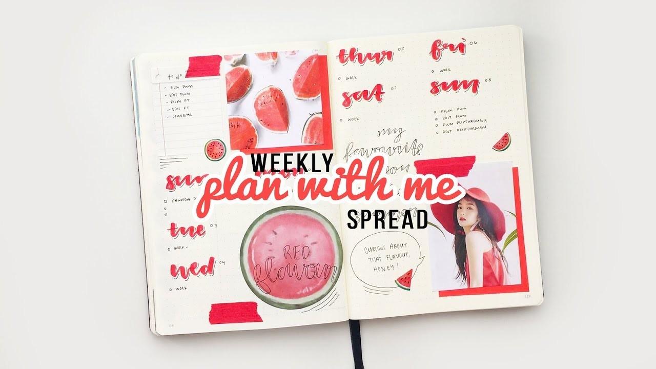 Kpop bullet journal | plan with me | july 2018 weekly spread