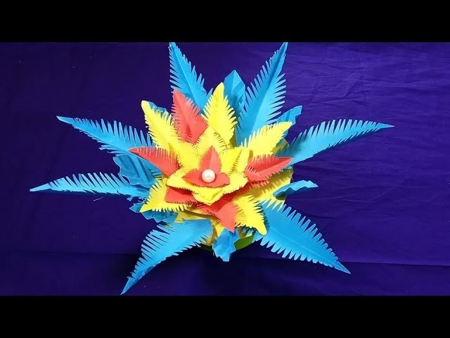 Paper flower diy | How to Make flower from Paper |  Flower Making at Home