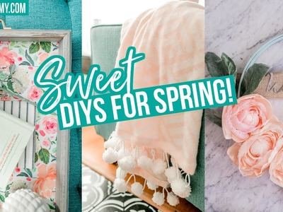 SPRING DIY ROOM DECOR ???? Easy Tray, Blanket & Wreath