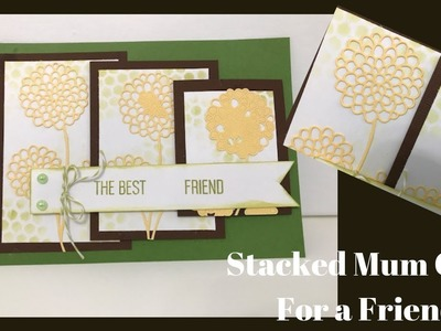 Stacked Flower Card Front For a Friend
