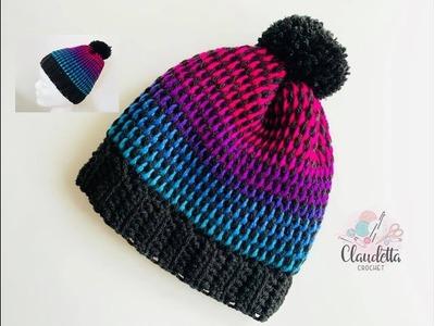 TUNISIAN CROCHET HAT. Full Stitch. Beginner