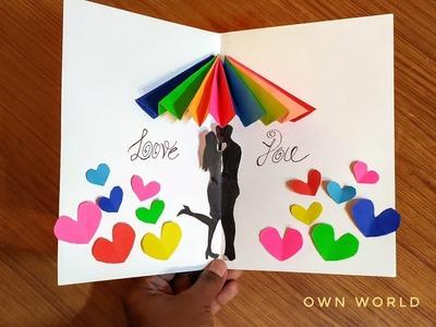 Valentine's Day card   DIY pop-up Card for Valentine's day