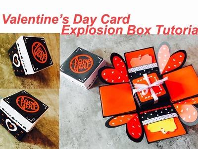 Valentine's Day Card | DIY | Valentine's Day Gift Idea | Explosion Box Tutorial