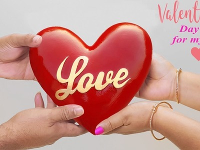 Valentine's Day Gift. Easy Crafts Ideas at Home. Showpiece make at home