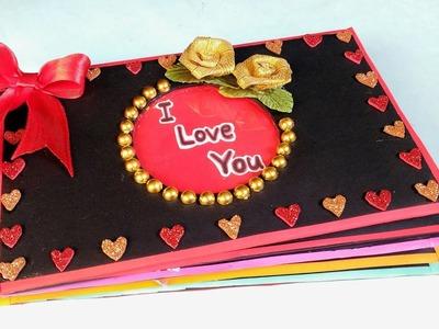 Valentine's Day Scrapbook   Tutorial   DIY   How To Make   Creative Craft By Punekar Sneha