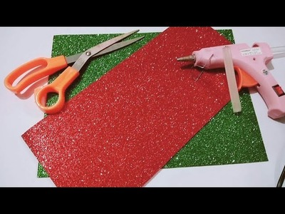 #ValentineSpecialRose Making of Rose with glitter paper