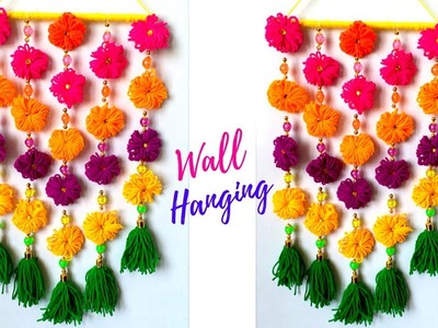 Woolen wall hanging for diwali decoration | diwali decoration ideas | Best out of waste|diwali craft