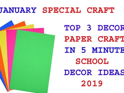 3 Amazing Republic day craft ideas | republic day project work | wall hanging | paper craft