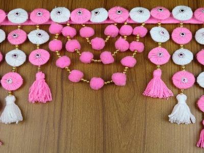 Amazing Woolen Craft Idea | How to Make Door Hanging Toran - New Woolen design - DIY arts and crafts