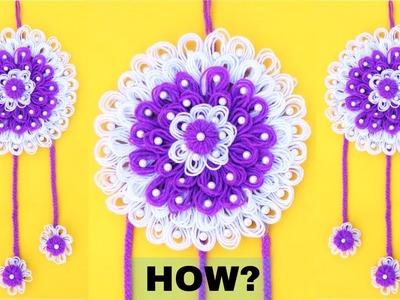 Amazing Woolen design.Woolen craft idea.Best out of Waste.DIY room decor