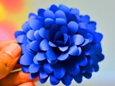 BEAUTIFUL FLOWER| SIMPLE LIFE HACKS |PAPER CRAFT| WASTE MATERIAL REUSE IDEA |TRICKY LIFE|