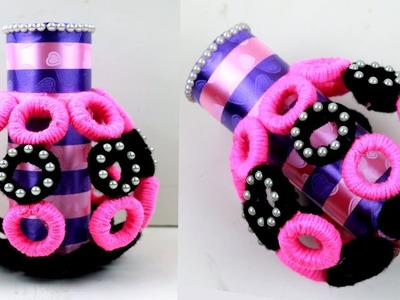 Best Out Of Waste woolen and tissue paper roll | Easy WOOLEN Craft Idea | Recycled Material Craft