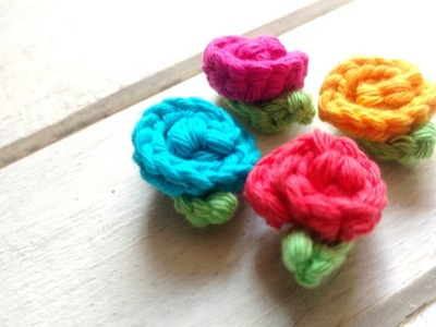 Crochet mini flower tutorial very easy - Step by Step