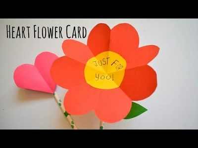 Cute Heart Flower Card | DIY Flower Craft Ideas | Fun Paper Crafts For School