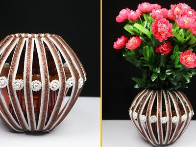 DIY Best out of plastic bottle craft | Flower vase from plastic bottle at home | Best out of Waste