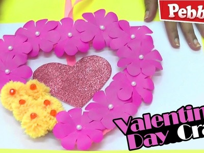 DIY Heart Wall Hanging Paper Craft.Valentine's Day Room Decoration Idea.Heart Wall Hanging
