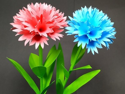 DIY: How to Make Lovely Stick Flower with Paper!! Paper Craft Idea | Jarine's Crafty Creation