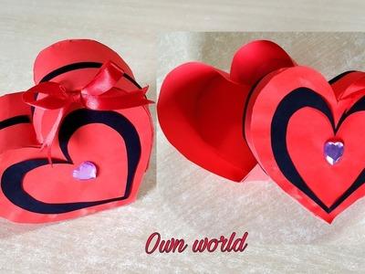 DIY Valentine's Day Gift Box.Heart Box - Paper Craft