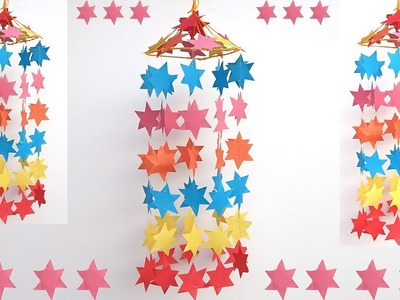 Star Diy Wall Hanging Craft Ideas Using Colourful Paper Room Decoration Ideas Star Decoration