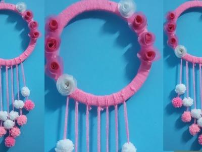 Diy woollen wall hanging||wall hanger||craft ideas||decorations||handicraft with woollen||