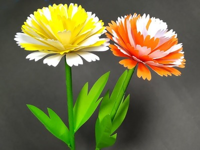 Flower Making Idea!! Easy Beautiiful Paper Craft | Stick Flower | Jarine's Crafty Creation