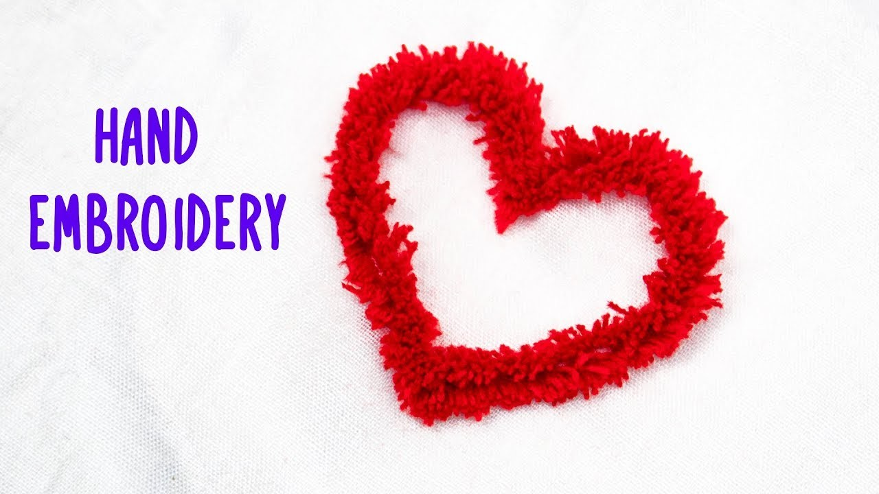Hand Embroidery Amazing Love Shape Embroidery Trick with Plastic Bottle #Craft Express #11