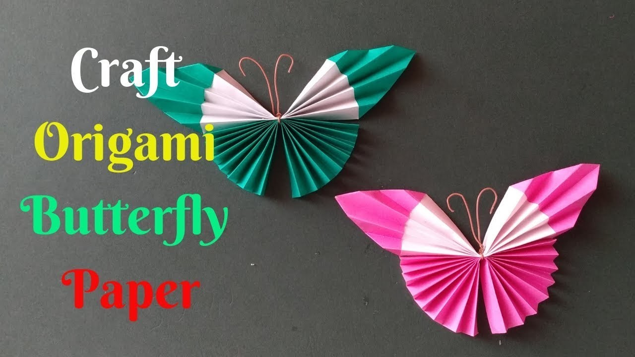 How To Make A Paper Butterfly | Diy Craft Origami Butterfly Paper #2 | Home Diy Crafts Paper