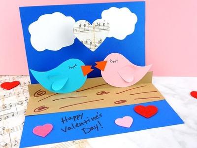 How to Make a Pop Up Love Birds Craft