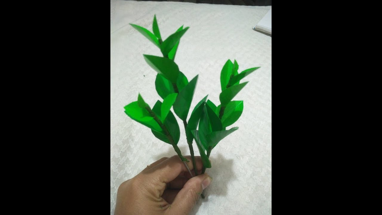 How to make artificial leaves out of plastic bottle. Plastic bottle craft.Artificial leaves.