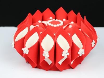 How to Make Diy Foam Basket in Easy Way   Foam Sheet Craft Ideas