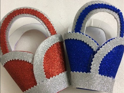How To Make Glitter Foam Sheet Craft IDEA   Foam Sheet Basket   DIY