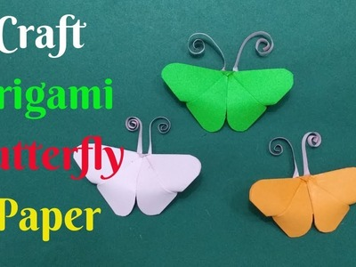 How To Make Origami Butterfly Paper | Diy Craft Origami Butterfly Paper #3 | Home Diy Crafts Paper