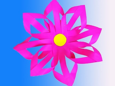 How to Make Paper Flower- Easy Method  - DIY Paper Craft. Preschool Crafts, Preschool Ideas.