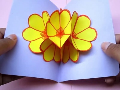 How to Make Paper Flowers #6, DIY PAPER, decoration craft interior, crepe paper,origami flowers